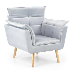 Изключително удобно кресло в модерен стил-цвят светлосив