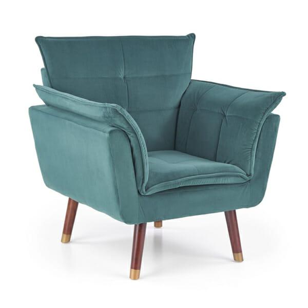 Изключително удобно кресло в модерен стил-цвят тъмнозелен