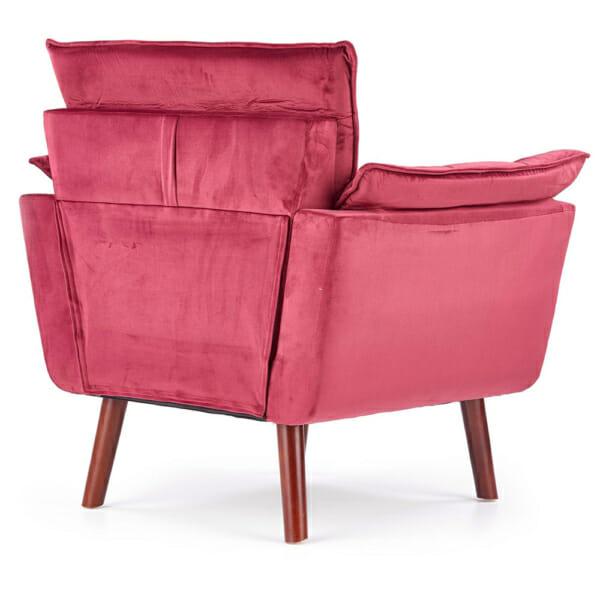 Изключително удобно кресло в модерен стил-цвят червен-снимка отзад