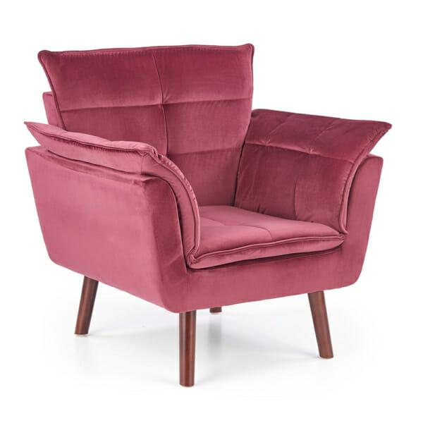 Изключително удобно кресло в модерен стил-цвят червен