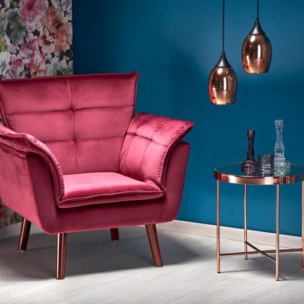 Изключително удобно кресло в модерен стил-червен-интериор