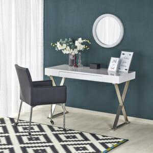 Луксозно бяло бюро за домашен офис Мия