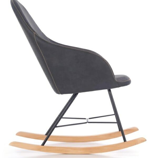Люлеещо се кресло в тъмносиво - отстрани