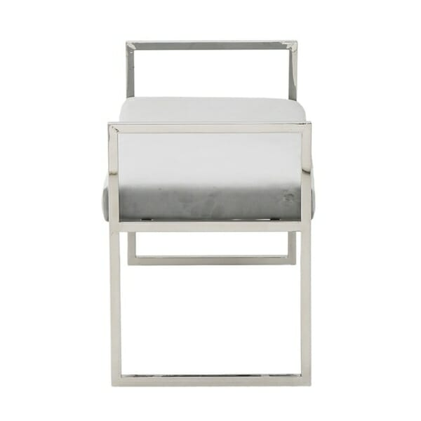 Модерна пейка от стомана и кадифе - странично
