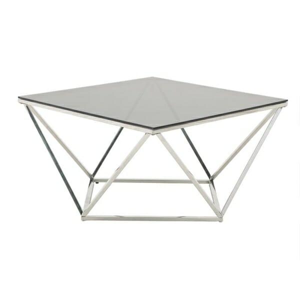 Модерна холна маса от стъкло и стомана