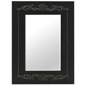 Стенно огледало с черна рамка от дърво