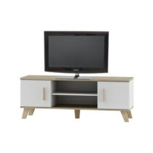 ТВ шкаф в бяло и дъб сонома серия Моли