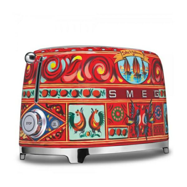 Тостер с ретро дизайн SMEG Dolce and Gabbana-снимка отстрани-2