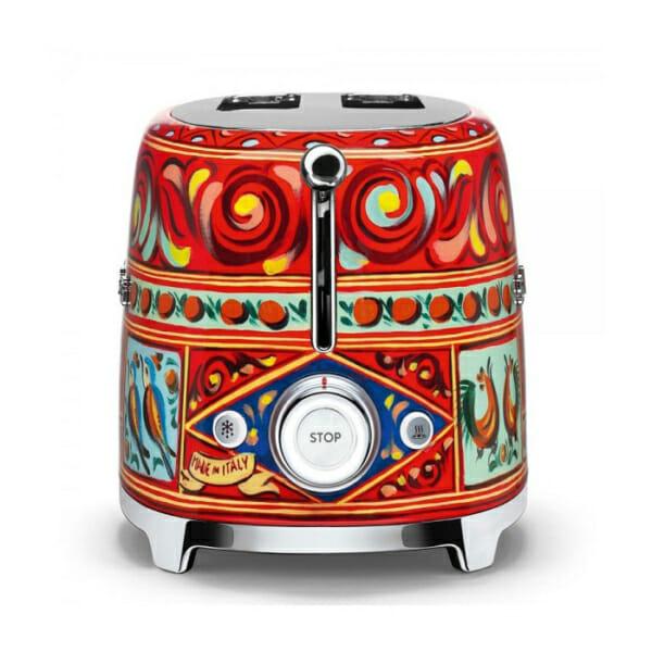 Тостер с ретро дизайн SMEG Dolce & Gabbana-снимка отстрани