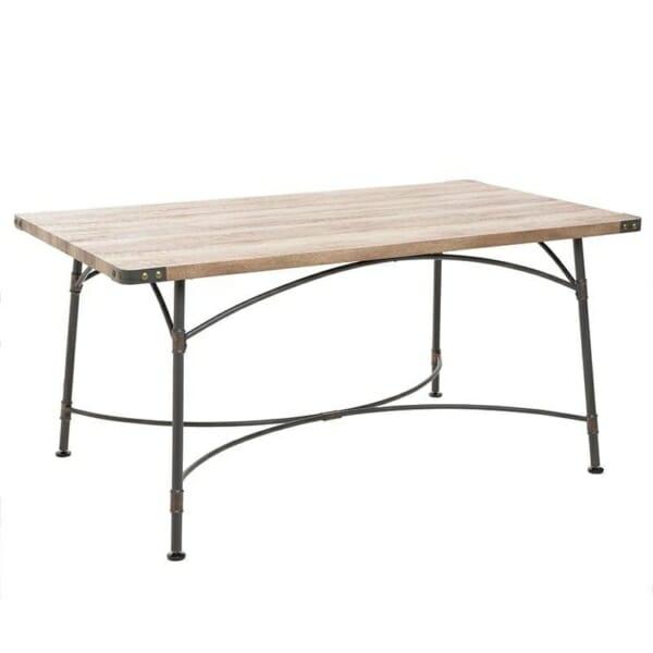 Трапезна маса от дърво и метал в индустриален стил
