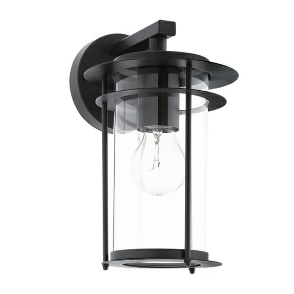 Черен външен аплик от метал и стъкло серия Valdeo