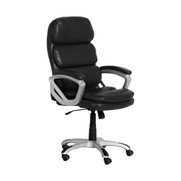 Черен директорски офис стол от еко кожа