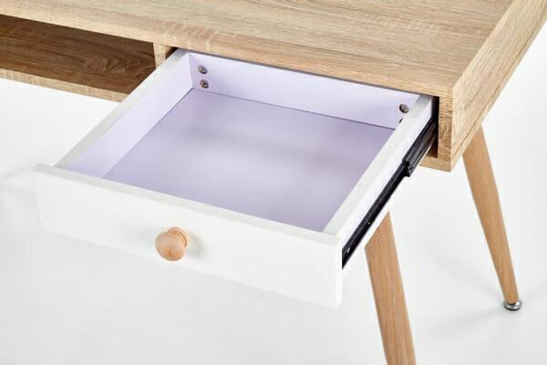 Бюро в цвят дъб сонома и бяло Норд - чекмедже