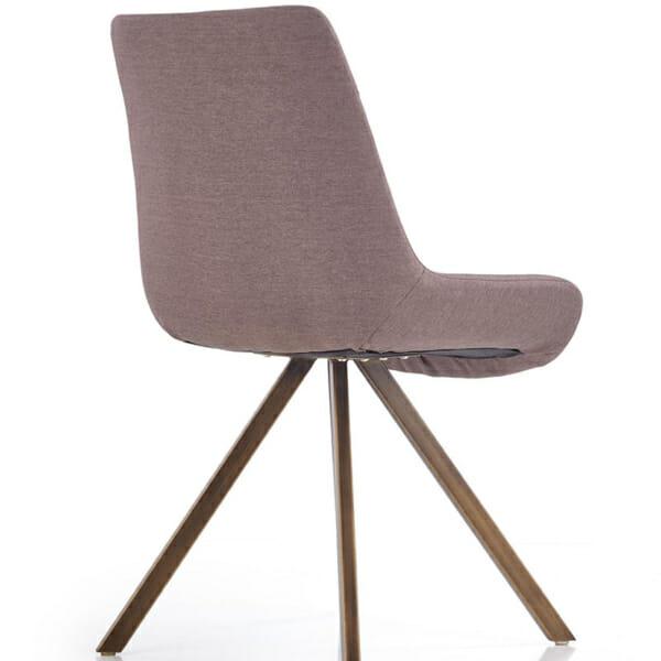 Модерен сив стол с метални крака-снимка отзад-1
