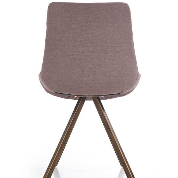 Модерен сив стол с метални крака-снимка отзад