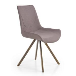 Модерен сив стол с метални крака