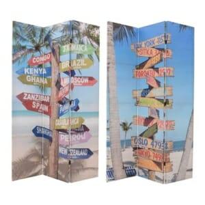 Параван с летен мотив плажни табели