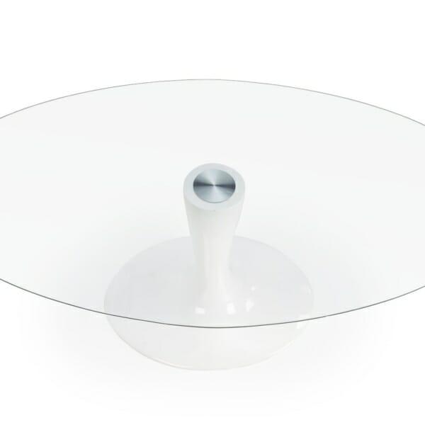 Стъклена трапезна маса с елегантна визия - отгоре