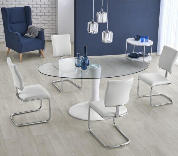 Стъклена трапезна маса с елегантна визия