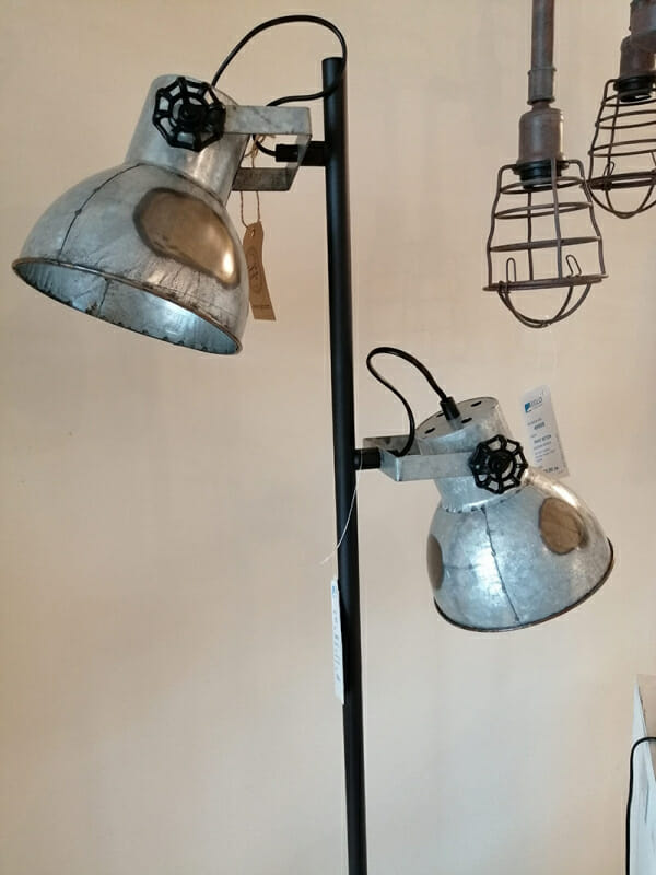 Винтидж лампион в състарен цинк Eglo серия Barnstaple