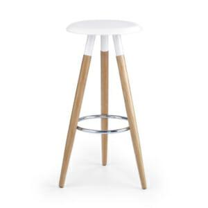 Висок стол за барплот без облегалка в скандинавски стил