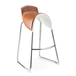 Екстравагантен бар стол със седалка като седло