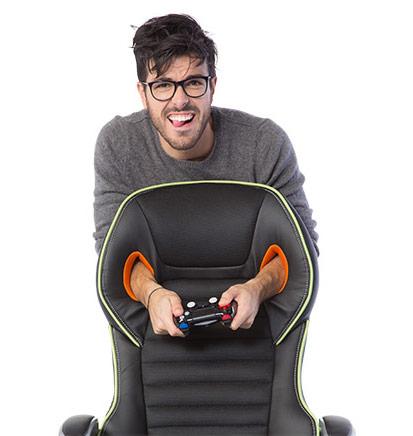 Луксозен геймърски стол от еко кожа-демо
