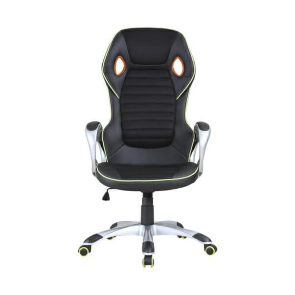 Луксозен геймърски стол от еко кожа-снимка отпред