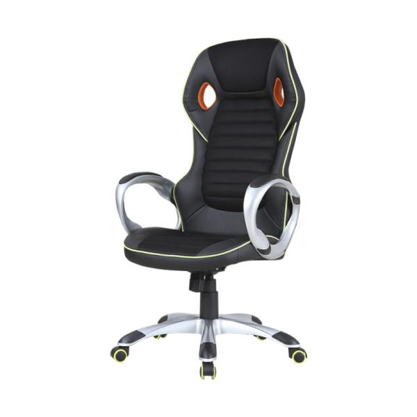 Луксозен геймърски стол от еко кожа-снимка отстрани