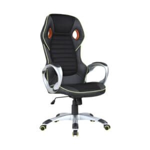 Луксозен геймърски стол от еко кожа
