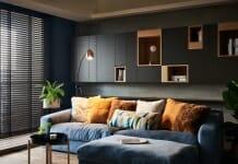 Модерен и стилен интериор в тъмни цветове