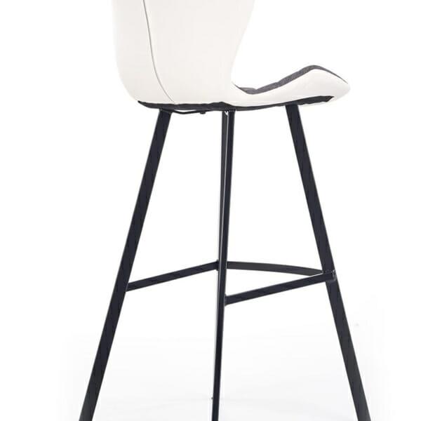 Модерен стол за барплот с облегалка и метални крака-снимка отзад