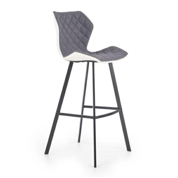 Модерен стол за барплот с облегалка и метални крака