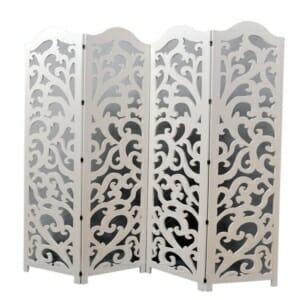 Полупрозрачен декоративен параван в бяло