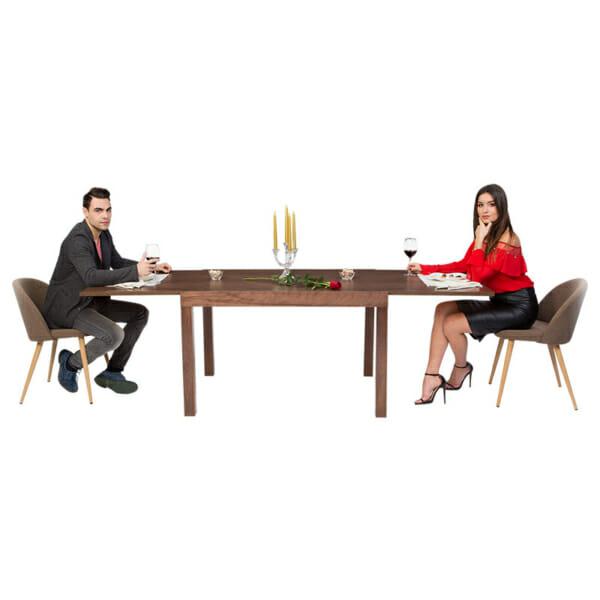 Правоъгълна разтегателна маса за трапезария-демо