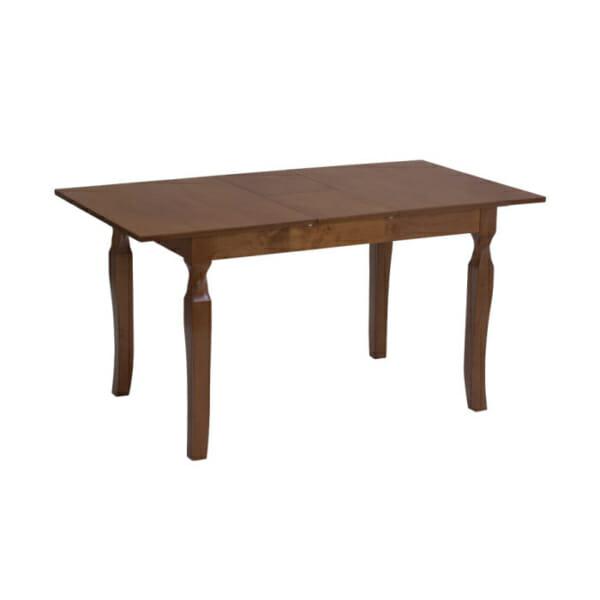 Разтегателна трапезарна маса в цвят меден дъб-разтегната