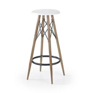 Стол за барплот с метални крака и без облегалка