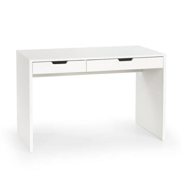 Бяло работно бюро с 2 чекмеджета