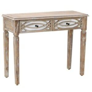 Дървена конзолна маса с огледална декорация Vito