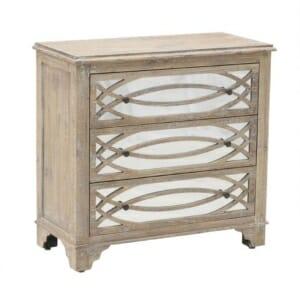 Дървен скрин с 3 огледални чекмеджета Vito