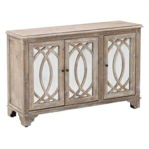 Дървен шкаф с огледални вратички серия Vito