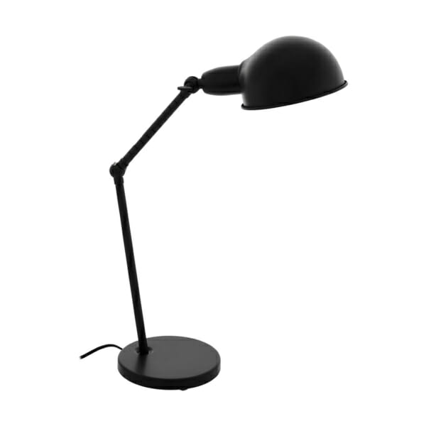 Метална настолна лампа в черно Eglo серия Exmoor