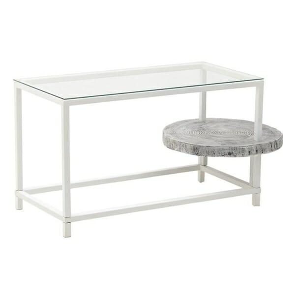 Нестандартна бяла маса със стъклен плот
