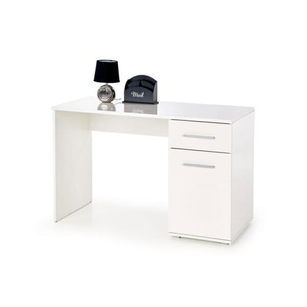 Бяло бюро с едно чекмедже и един шкаф