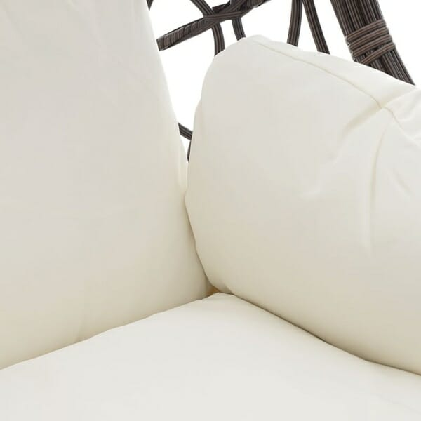 Висящ стол на стойка в кафяво и кремаво - седалка