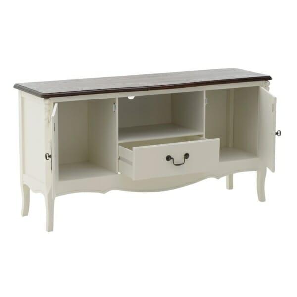 Дървен ТВ шкаф в класически стил Classic - отворен