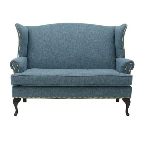 Елегантно двуместно канапе в син цвят