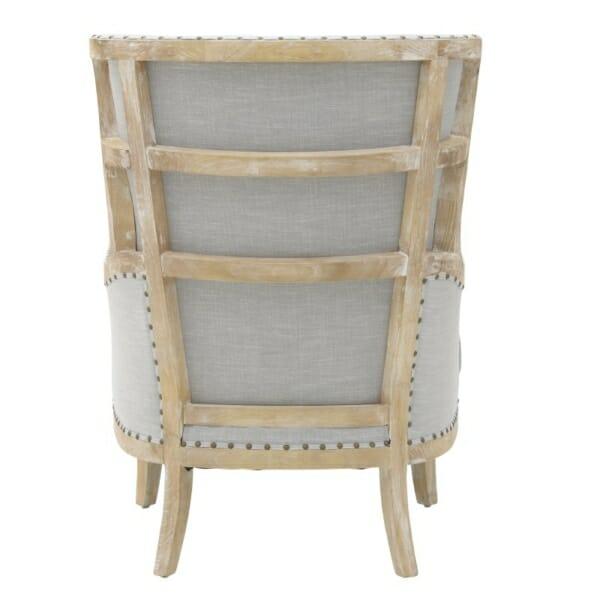 Масивно дървено кресло с висока облегалка - отзад
