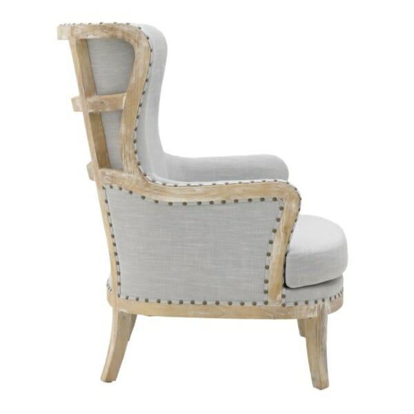 Масивно дървено кресло с висока облегалка - отстрани