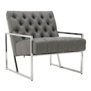 Модерно кресло в сиво и сребристо